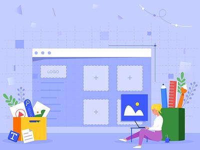 website builder website builder website design guides banner design jotform flat illustration illustrator adobe