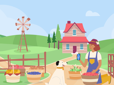 agricultural  marketing marketing farmers market farmer agriculture illustration blog post banner design jotform flat illustration illustrator adobe