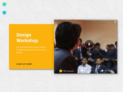 Pop-Up Video CTA pop up typography ui design ecommence userinterfacedesign