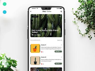 Plant E-Commerce App plants ux ecommence design ui userinterfacedesign typography
