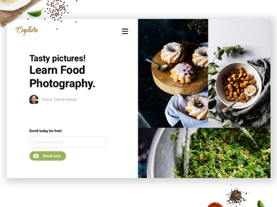 Food Photography Web Design ux ecommence ui design userinterfacedesign
