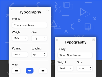 Typography Pannel - UI Design figmadesign asia sketch app ux ecommence typography ui design userinterfacedesign