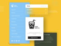 Cool Kids UI Design