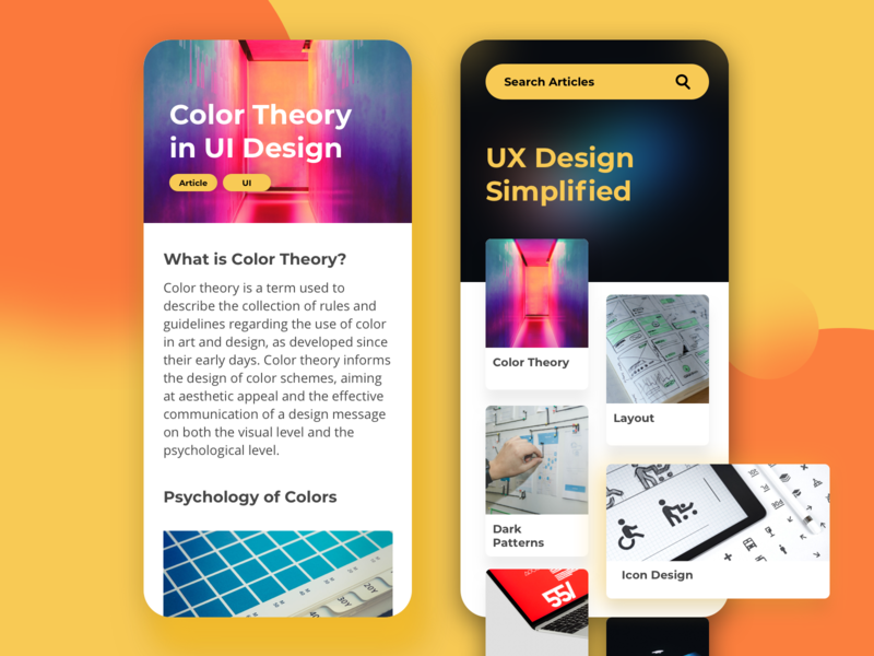 UX Simplified - Educational App - Learn UI UX Design app figma entrepreneur branding business figmadesign asia sketch app illustration ux ecommence typography design ui userinterfacedesign