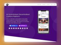 Saas concept webpage