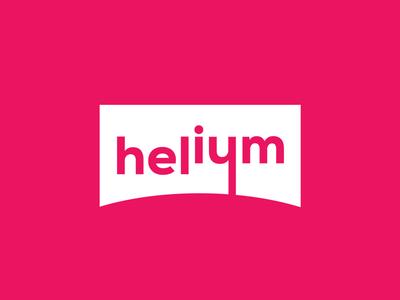 Helium logo designer mirigfx graphic design branding logo design logo