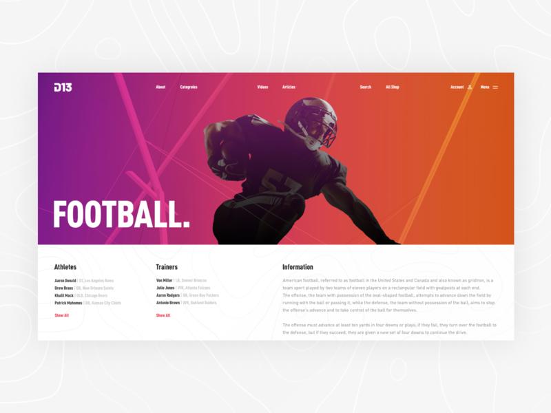 D13 gym app ui ux modern minimalism sport fitness web design concept