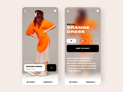 Ecommerce App fashion application app design ui ecommerce trendy typography concept modern