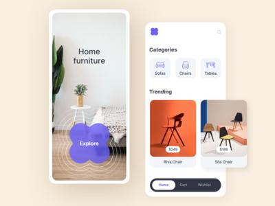 Furniture Store App ui  ux application app design furniture app modern