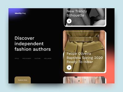 Identity Mag fashion magazine minimalism trendy typography concept modern