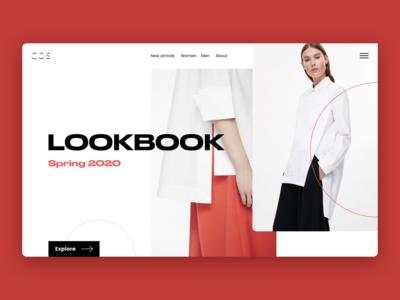 Lookbook Concept trendy fashion design ecommerce minimalism webdesign typography concept modern