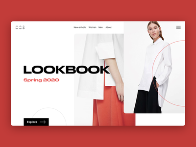 Lookbook Concept trendy fashion design ecommerce minimalism webdesign typography concept modern