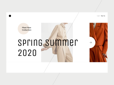 New Collection Landing Page fashion ecommerce minimalism webdesign trendy typography modern concept