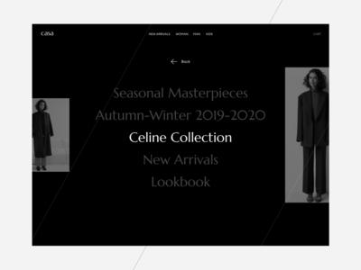 CASA Fashion ecommerce fashion minimalism trendy concept typography modern