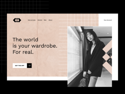 Fashion App Landing Page branding ecommerce fashion trendy typography concept modern