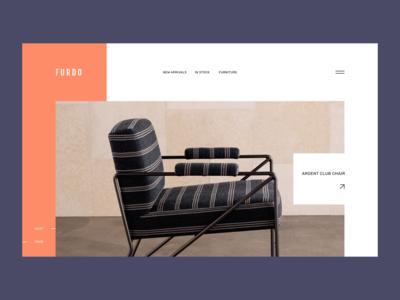 Furdo Furniture furniture ecommerce ui minimalism webdesign ux trendy modern concept