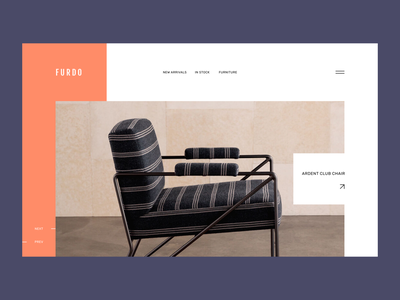 Furdo Furniture furniture ecommerce ui minimalism webdesign ux trendy modern concept