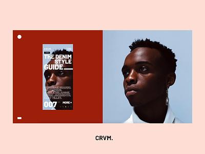 CRVM. mobile ui ux ui trendy fashion ecommerce minimalism webdesign concept modern