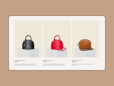 Cecily Clune luxury bags clean minimal ecommerce fashion typography ux ui web website interface promo