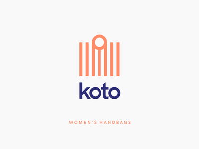 Koto Women's Handbags bags modern minimalism trendy typography illustration ecommerce fashion logo logotype logo brand identity brand design