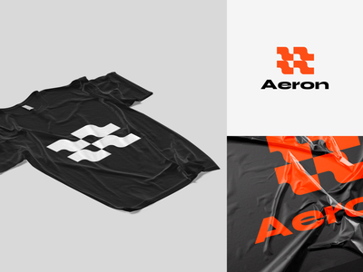 Aeron trendy vector modern branding idenity logotype logo