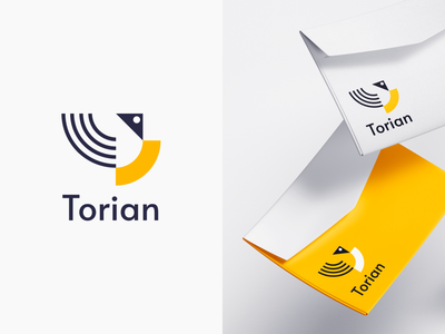 Torian vector trendy modern icon brand identity branding logo design logo