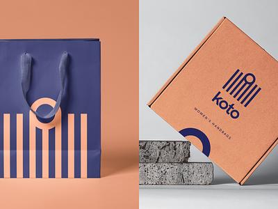 Koto Women's Handbags idenity branding logotype logo store typography trendy minimalism modern bags