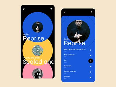 Music player concept music player app minimalism webdesign typography trendy concept modern