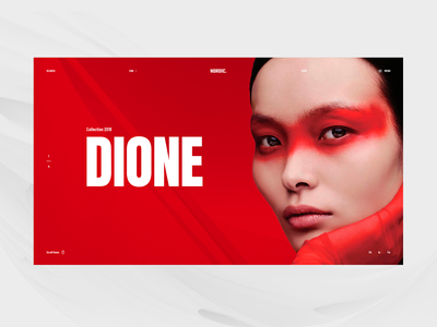 Nordic Concept red trendy minimalism modern design website web ui ux typography webdesign