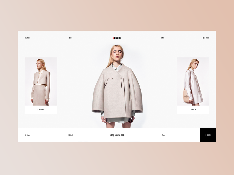 Nordic Catalog Page catalog shop ecommerce website webdesign web ui ux minimalism modern trendy typography