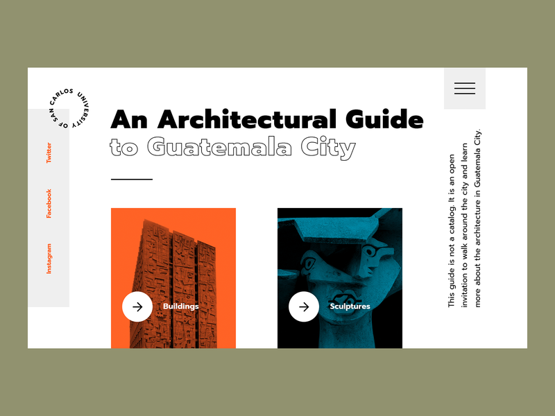 An Architectural Guide promo landing architecture concept art ui ux design typography trendy modern minimalism