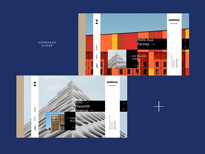 Architect Website portfolio architechture architect concept ui ux typography modern