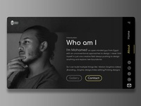 Graphic designer's website (About page)