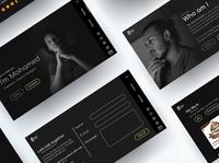 Graphic designer's website (final shoot)