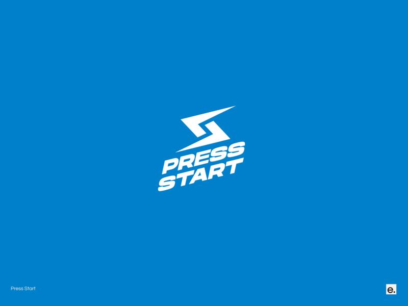 Press Start design wordmark typography minimal logo design graphic design branding bold