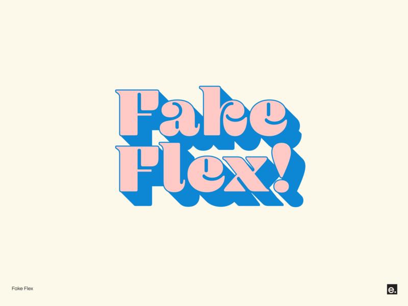 Fake Flex design branding wordmark typography minimal logo design graphic design bold