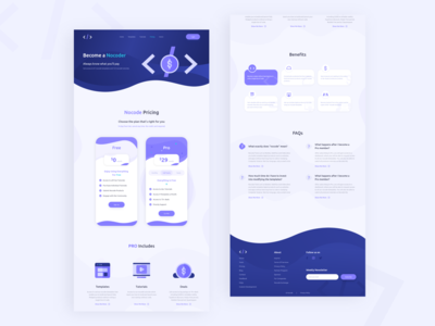 Nocode HQ Pricing Page template builder tutorial website design website builder web design price pricing table pricing plan pricing page pricing landing page design visual design graphic  design product design user interaction branding design ui ux design user interface design user experience design dribbble best shot