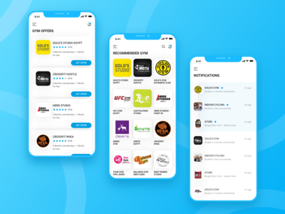 Cairo Gyms App workout tracker workout app workout gymnastics sports design gym website recommendations offers notifications fitness app fitness gym app gym mobile app design product design user interaction ui ux design user interface design user experience design dribbble best shot