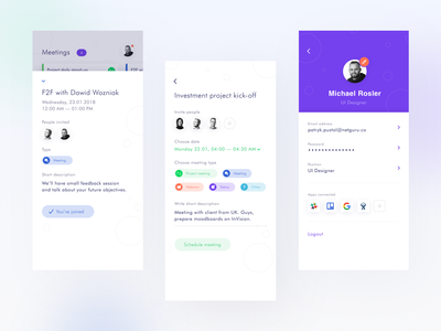 Eventos - Event Management App calendar app company work space task list task manager profile page schedule app scheduler appointment booking team management meeting event app events visual design product design user interaction ui ux design user experience design user interface design dribbble best shot