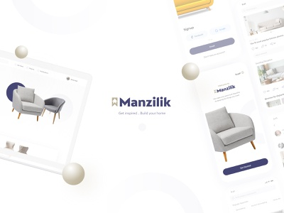 Manzilik Home Furtniture (web & Mob) store shopping mobile ui design search page product page home page cart home decore home furniture furniture ui ux design dribbble best shot landing page design visual design product design user interaction ui ux user experience design user interface design animation