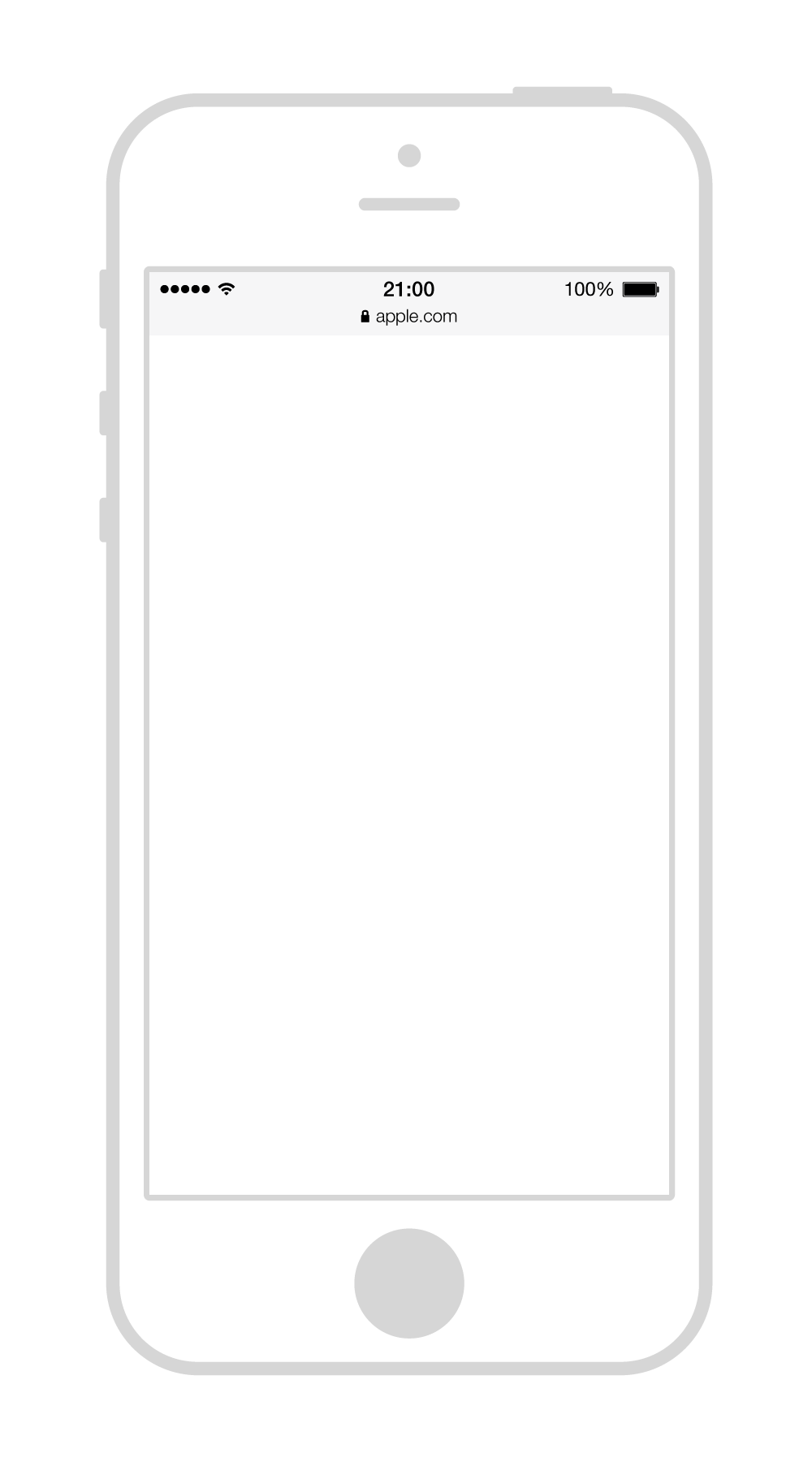 Iphone5 wireframe