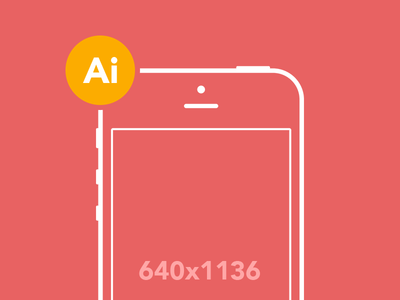 iPhone 5 Wireframe iphone illustrator freebie flat vector mobile ai wireframe mockup prototype