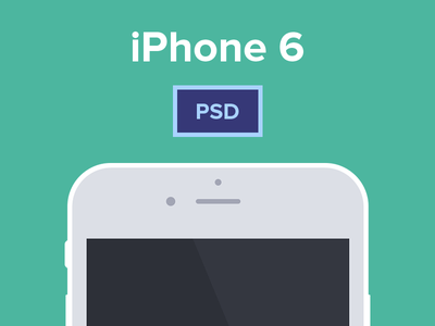 iPhone 6 & 6 Plus Free PSD Mockup iphone 6 flat psd free freebie plus mockup vector