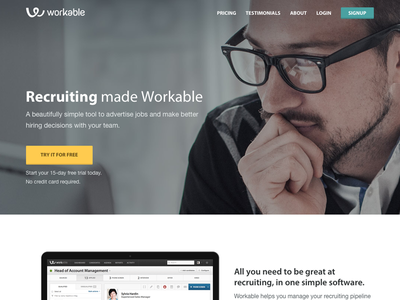 Workable Homepage homepage landing workable features storefront