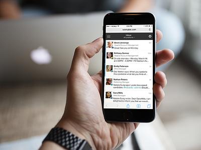 Workable Mobile Sneak Peek workable mobile webapp hiring recruiting inbox