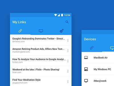 LinkWarp ux ui material mobile app android
