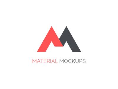 Material Mockups Logo monogram m branding logo mockups material