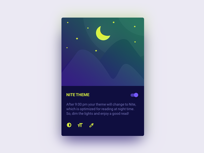 Nite Theme nite dark reading theme cards material