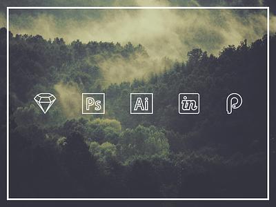Line Logos logos apps tools line sketch photoshop illustrator invision principle