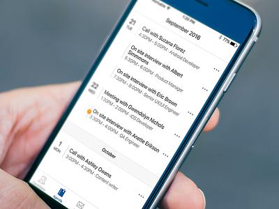 Agenda - iOS actionsheet workable mobile ios hiring agenda events schedule